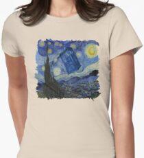 Starry Night Tardis Womens Fitted T-Shirt