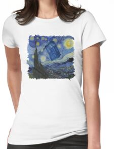 Starry Night Tardis Womens Fitted T-Shirt