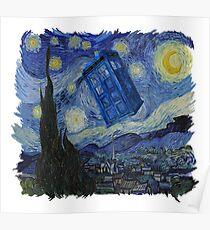 Starry Night Tardis Poster