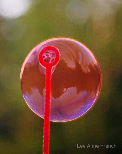 Red Bubble by Lee Anne French