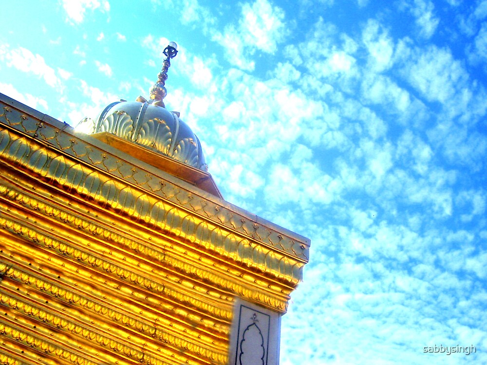 Golden Tample Top View by sabbysingh