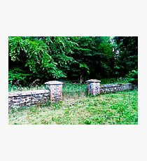 Stone wall and gate, Donegal, Ireland Photographic Print