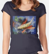 Koi and Water Ripples Women's Fitted Scoop T-Shirt