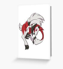 "Pokemon ""Midnight Lycanroc"" Greeting Card"
