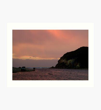 Sunset, Glen Aire Beach Art Print