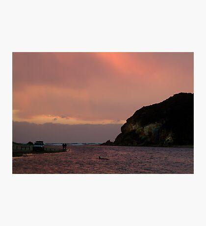 Sunset, Glen Aire Beach Photographic Print