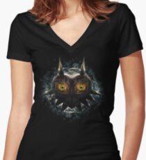 The Epic Evil of Majora's Mask Women's Fitted V-Neck T-Shirt