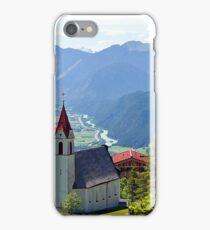 Church in Alps and Inn Valley, Tyrol, Austria iPhone Case/Skin