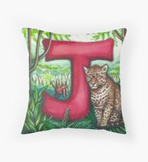 Alphabet Letter J Throw Pillow