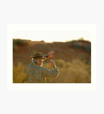 Desert Glare,Simpson Desert,Australia Art Print