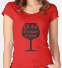 Oh Look, It's Wine O'Clock Women's Fitted Scoop T-Shirt