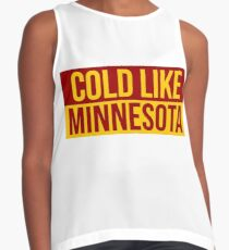 Cold Like Minnesota Graphic Contrast Tank