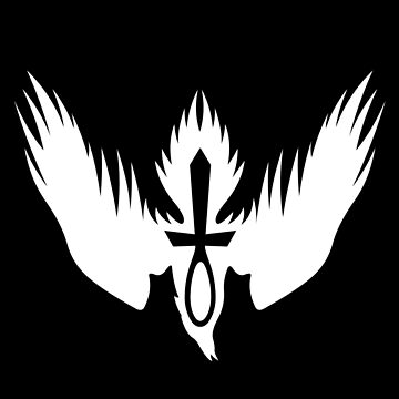 Drowning Doom Logo - White by anxietydown