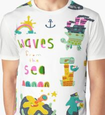 Waves from the Sea Graphic T-Shirt