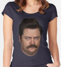 Ron Swanson Women's Fitted Scoop T-Shirt