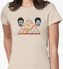 Ron Swanson's Pyramid Of Greatness Womens Fitted T-Shirt