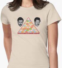 Camiseta entallada La pirámide de la grandeza de Ron Swanson
