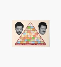 Ron Swanson's Pyramid Of Greatness Art Board