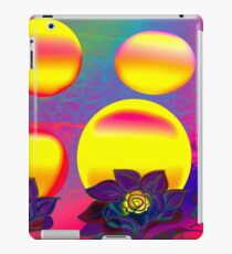 Sunset Moonlight Flower Rose Abstract iPad Case/Skin