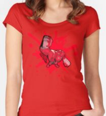 Brutes.io (Behemoth Punch Red) Women's Fitted Scoop T-Shirt