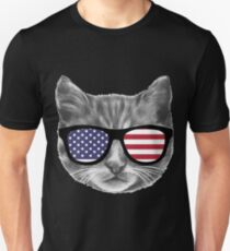 Patriotic Cat Kitten  Unisex T-Shirt