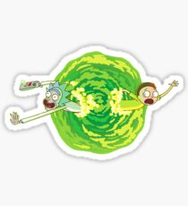 Rick and Morty Portal Jump Sticker