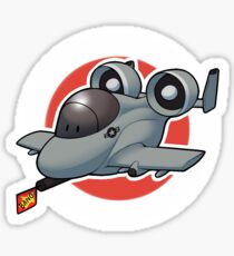 A-10 cannon fire Sticker