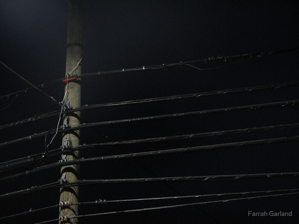 Weaverville Powerlines 2 by Farrah Garland