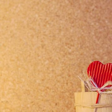 Love Background 4 - Heart, Emotional, Valentine, Wooden, Pinboard, Net, Basket by JuliaRokicka