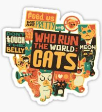Who Run The World Cats Sticker