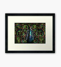 Steampunk - Pretty as a peacock Framed Print