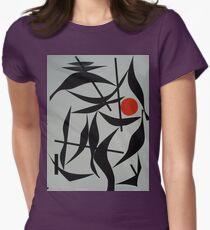 Orange Sun Womens Fitted T-Shirt