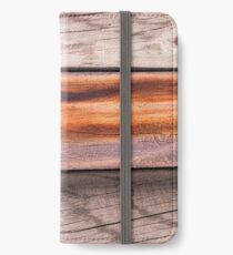 wood background iPhone Wallet