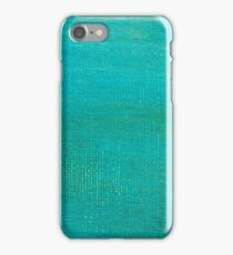 Painted green canvas background texture.  iPhone Case/Skin