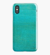 Painted green canvas background texture.  iPhone Case