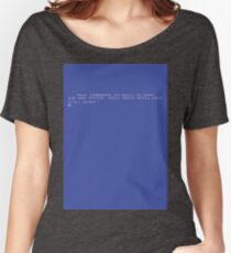 Commodore 64 Computer Screen #retro Women's Relaxed Fit T-Shirt