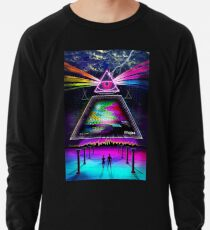 Static Intelligence - VHS 80s Retro Glitch Lightweight Sweatshirt