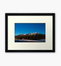 Mountains with Clear Sky Framed Print