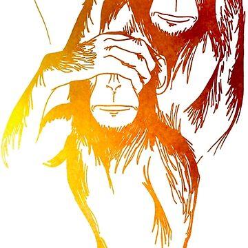Monkeys of wisdom by KreaKupla