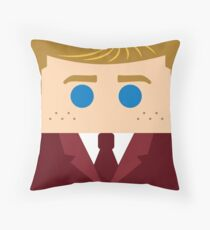 Robert Red Suit Throw Pillow