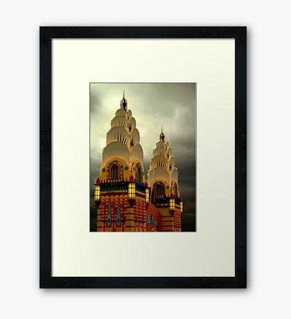 Luna Park Towers Framed Print