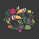 Tropische Tukane von Jacqueline Hurd