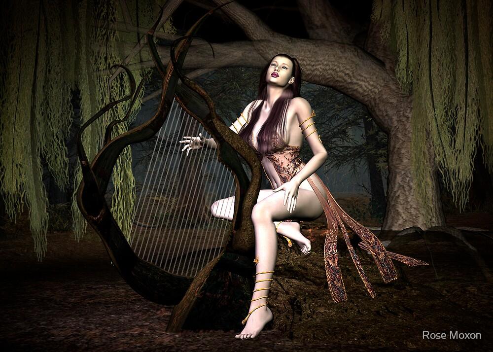 Harpist by Rose Moxon