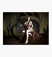 Harpist Photographic Print
