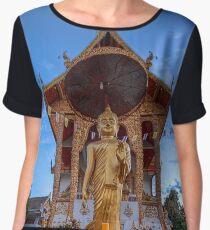Chiang mai temple buddha Chiffon Top