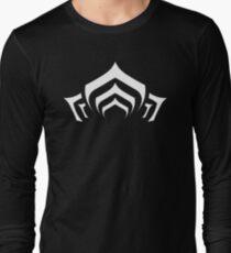 Warframe lotus symbol white Long Sleeve T-Shirt