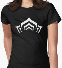 Warframe lotus symbol white Women's Fitted T-Shirt