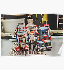 Robots of retro cool Poster