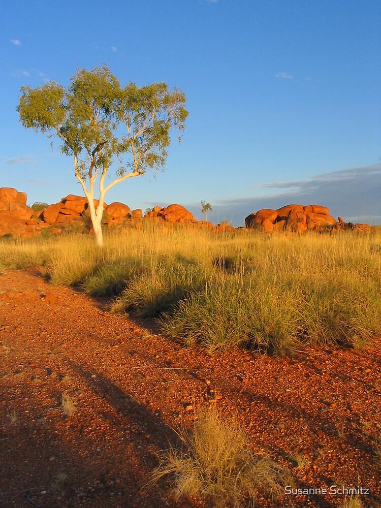 gumtree - devils marbles - Australia by Susanne Schmitz