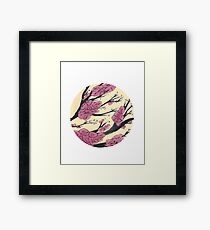 Pink Cherry Blossoms Circle Framed Print